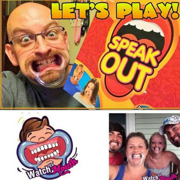 糖衣子輕鬆購【DZ0293】speakoutgame搞怪派對牙套玩具桌面遊戲整人玩具