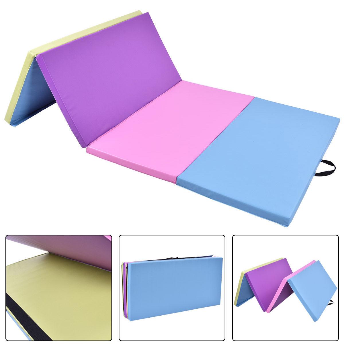 Costway Costway 4 X8 X2 Gymnastics Mat Folding Pu Panel