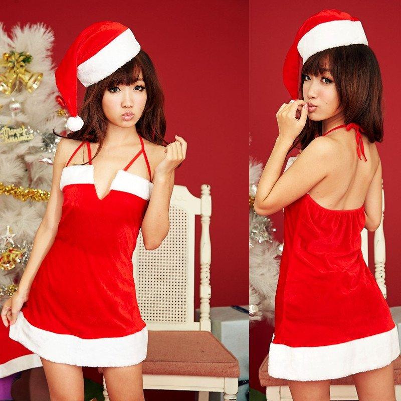 新款魅力應景聖誕女郎萬聖節角色扮演服裝 綁帶性感連身裙 M5