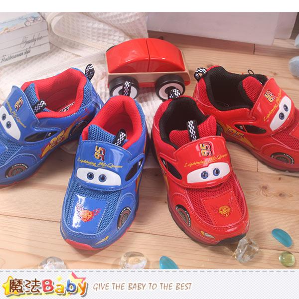 迪士尼閃電麥坤授權正品兒童閃燈鞋 魔法Baby~sh7834