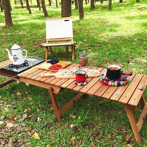 【露營趣】中和安坑HOTCAMPHC813白橡實木多功能伸縮料理桌木桌摺疊桌木板桌露營桌休閒桌