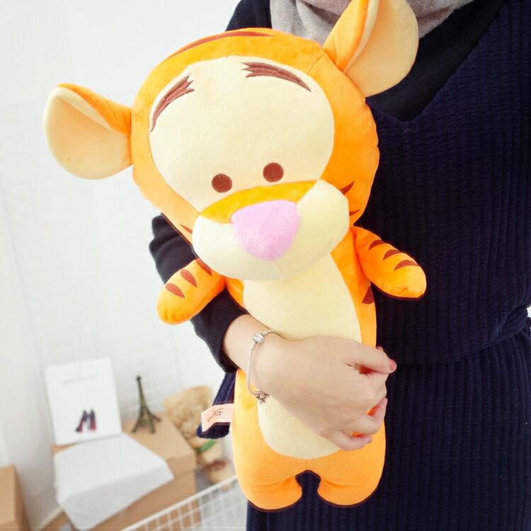 PGS7 迪士尼系列商品 - 12吋 跳跳虎 Tigger 長型 抱枕 小熊維尼 好朋友 娃娃 玩偶【SJK7159】