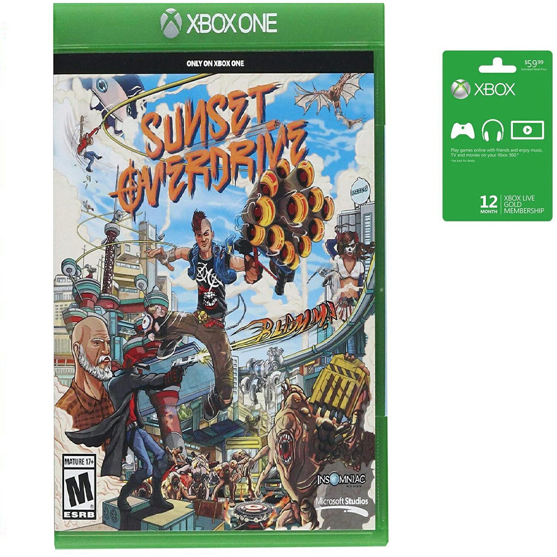 Microsoft Xbox LIVE 12 Month Gold Membership & Xbox One Sunset Overdrive  Bundle