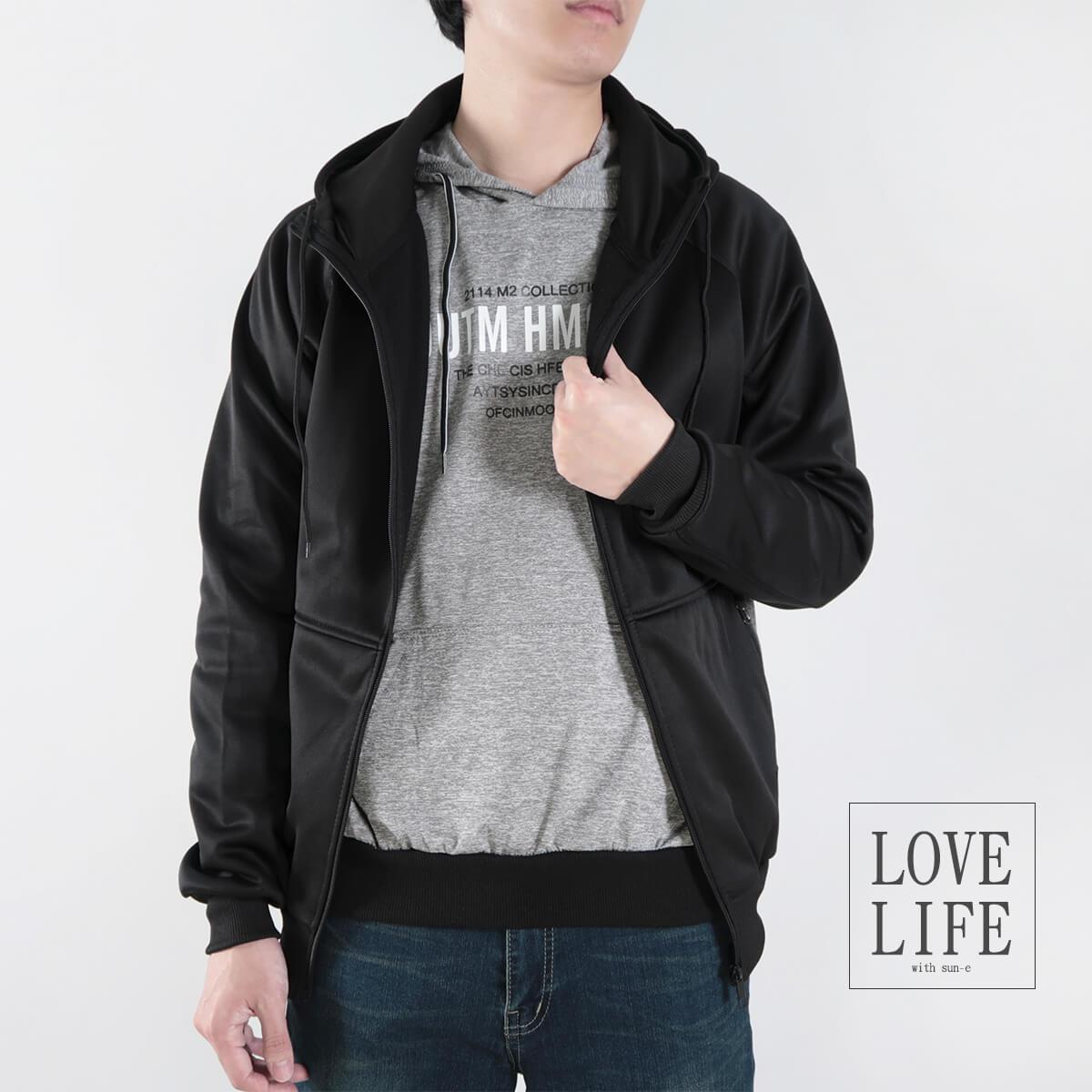 內刷毛連帽保暖外套 夾克外套 運動外套 休閒連帽外套 刷毛外套 黑色外套 時尚穿搭 WARM FLEECE LINED JACKETS (321-8916-01)淺灰色、(321-8916-02)深灰色、(321-8916-03)黑色 L XL 2L(胸圍46~50英吋) [實體店面保障] sun-e 9