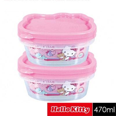樂扣樂扣Hello Kitty凱蒂貓幸運頭像保鮮盒二入組