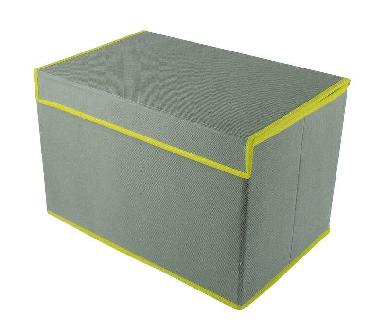 【凱樂絲】方型灰色果綠車邊收納籃箱,附蓋防塵。居家多功能收納 0