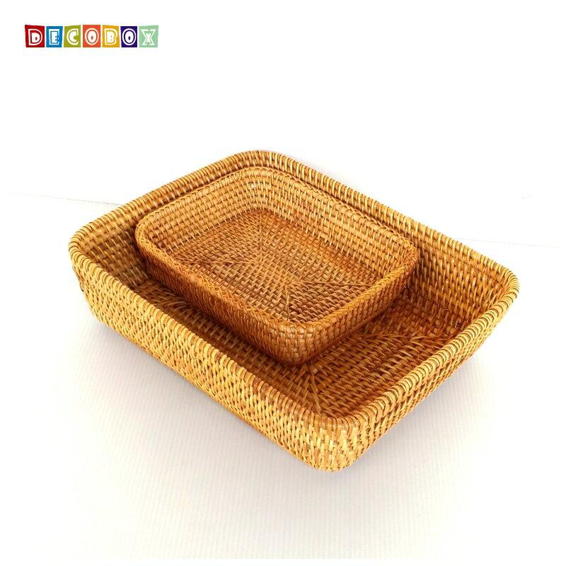 DecoBox藤編大長方茶點盤(茶道,藤編包) 5