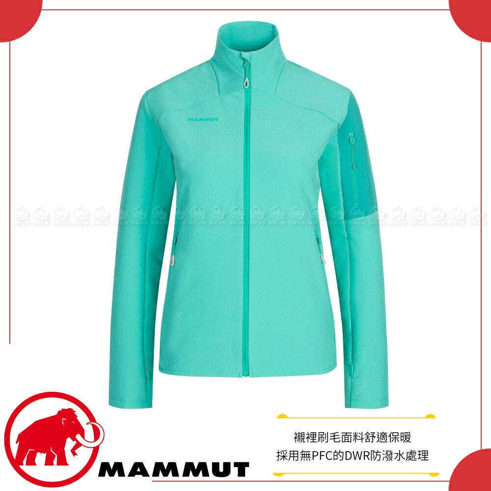 【MAMMUT 長毛象 女 Madris ML Jacket 中層防風保暖外套《綠瓷》】1014-02430/中層衣