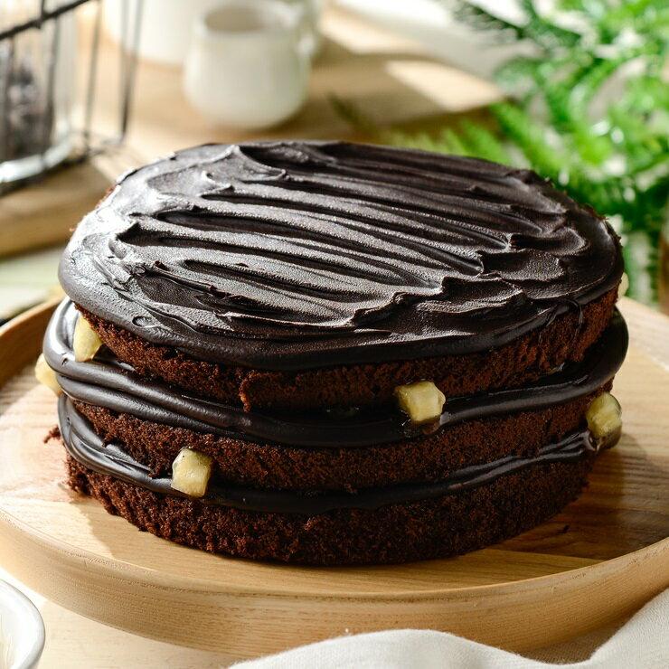 ❤️蘋果生巧克力蛋糕❤️  6吋~~[聚會甜點~彌月蛋糕~團購美食~伴手禮]▶全館滿499免運
