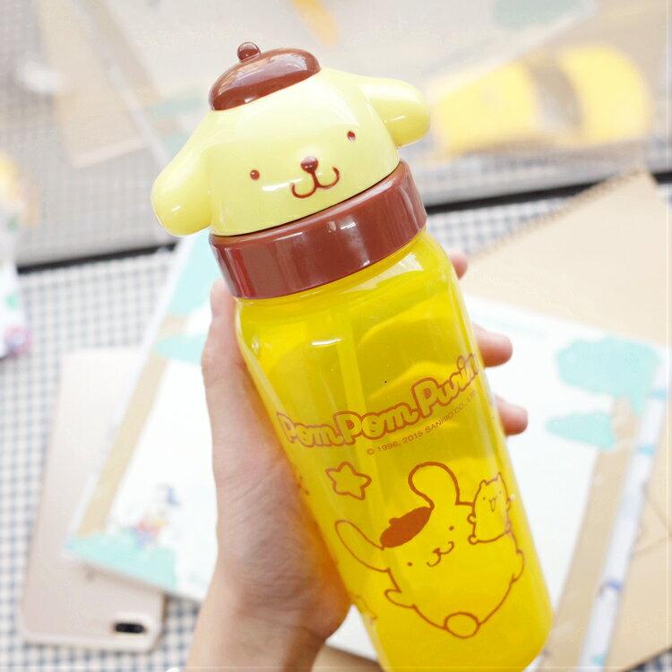 PGS7 日本三麗鷗系列商品 - 三麗鷗 布丁狗 Pom Pom Purin 頭型 翻蓋 水壺 水瓶【SEZ7111】