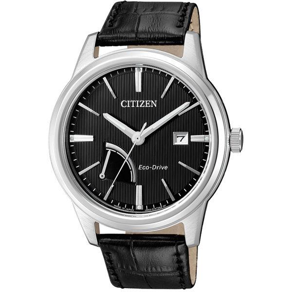 CITIZEN辰錶AW7000-07E電量顯示典雅光動能腕錶黑面42mm