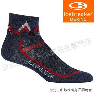Icebreaker 短筒薄毛圈多功能運動襪/羊毛襪/排汗襪/低筒襪/美麗諾羊毛 男款IB101487 402 灰藍/紅