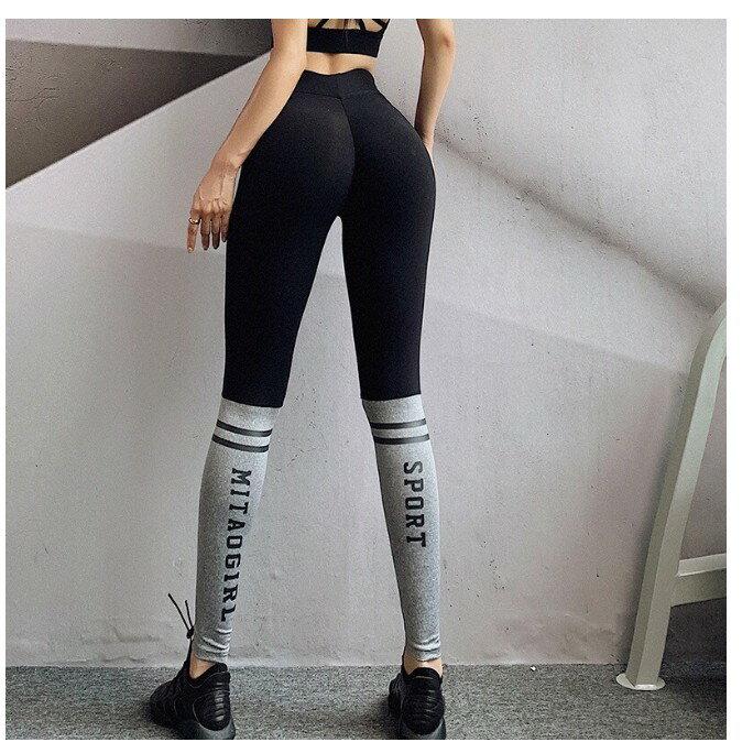 蜜桃天堂 顯臀拼色legging S-L 0