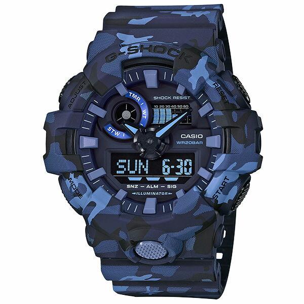 CASIOG-SHOCKGA-700CM-2A軍力迷彩流行雙顯腕錶53mm