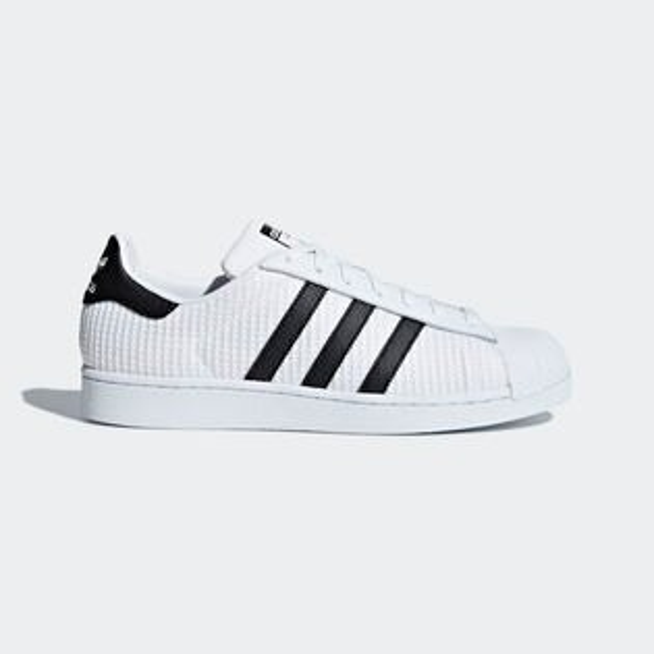 AdidasOriginalsSuperstar男鞋女鞋休閒網布透氣貝殼頭白黑【運動世界】CM8077