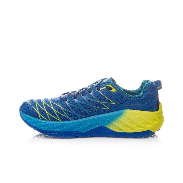 HOKAONEONE男路跑鞋Clayton2(藍綠)1014774IBPC【胖媛的店】