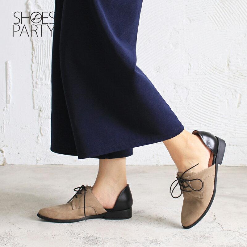 【C2-17813L】簍空真皮德比鞋_Shoes Party 1