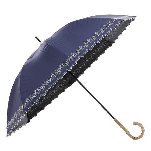 日本代購預購輕量小花刺繡UV加工雨傘長傘單人傘用傘紙箱運送538-31674