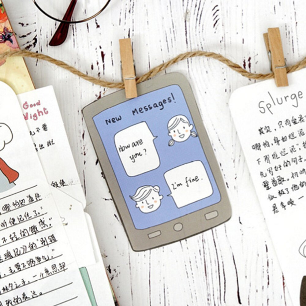 黑色行李箱一紙日記系列便條紙 留言卡 備忘錄【BlueCat】【JC3101】 4