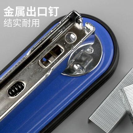 釘書機 得力加厚釘書機 可訂50頁學生辦公用訂書器中號大號省力型裝訂機手動定書機厚層釘釘書器釘書機壓書器訂本機『TZ1225』 6