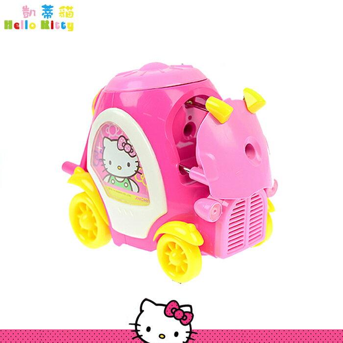 大田倉 韓國進口正版 Hello Kitty 凱蒂貓 粉紅削鉛筆機 學生 削筆機  車子造型 文具用品  271420
