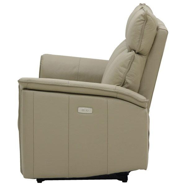 ◎(OUTLET)全皮3人用電動可躺式沙發 ELEGANTE BE 福利品 NITORI宜得利家居 2