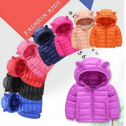 中大童外套 仿羽絨鋪棉連帽外套 耳朵造型保暖外套  LUCK11412 好娃娃 2