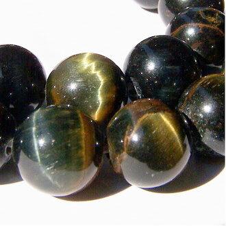 [藍虎眼]天然寶石 10mm圓形珠 diy飾品散珠 0