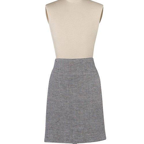 《DANICA》半身短圍裙(黑白格)