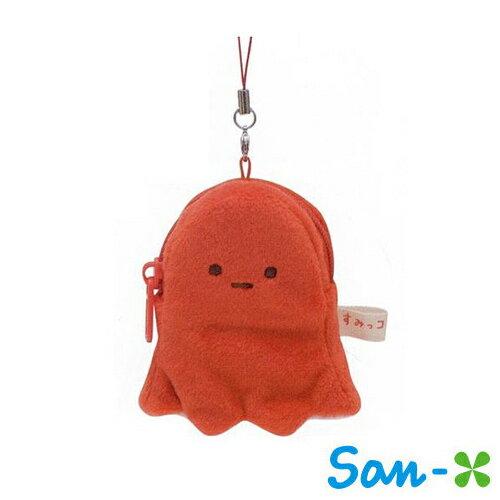 章魚款【日本進口】San-X 角落生物 角落公仔 錢包吊飾 零錢包 吊飾 - 682084