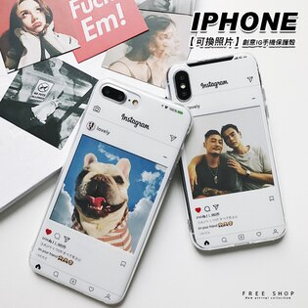 FreeShop可換照片創意IG手機保護殼蘋果IPHONEX876sPlus全系列附六張12面照片【QAAEY7327】