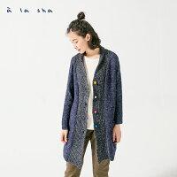 針織外套推薦到à la sha Qummi 兩穿式羊毛氈球球創意外套就在a la sha推薦針織外套
