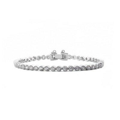 純銀手鍊 鍍白金鑲鑽手環 ~ 百搭 情人節生日 女飾品73cv25~ ~~米蘭 ~