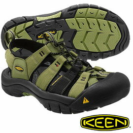 <br/><br/>  Keen Newport H2 男 護趾水陸兩用鞋 綠/黑 1012205<br/><br/>
