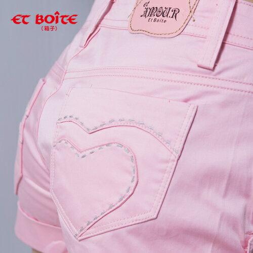 【5折限定↘】ET BOiTE 箱子  Amour心型短褲(粉色) 2