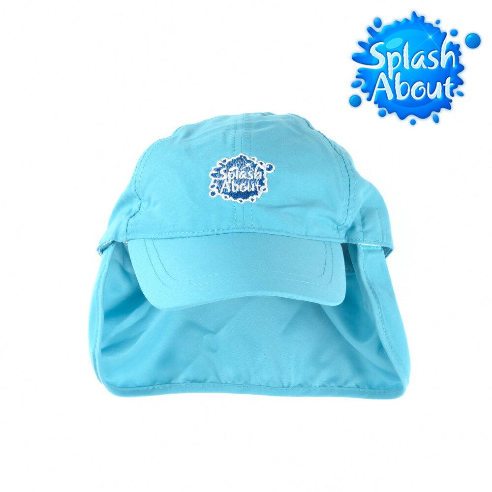 《Splash About 潑寶》Legionnaire Hat 抗UV遮頸帽 / 水藍Logo版