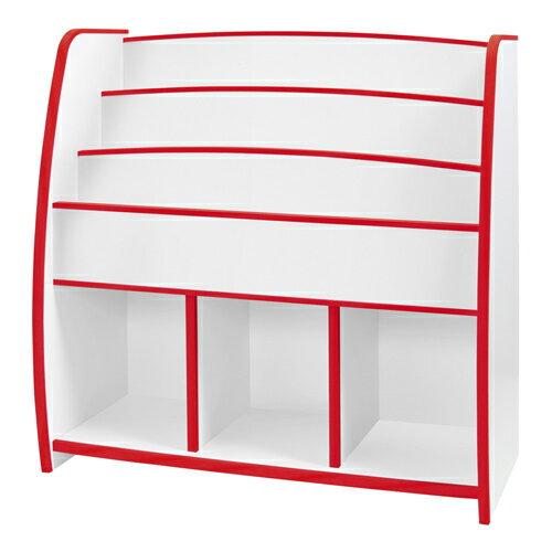 日本直輸/書櫃/收納櫃 TZUMii 小木偶多層收納櫃-紅白