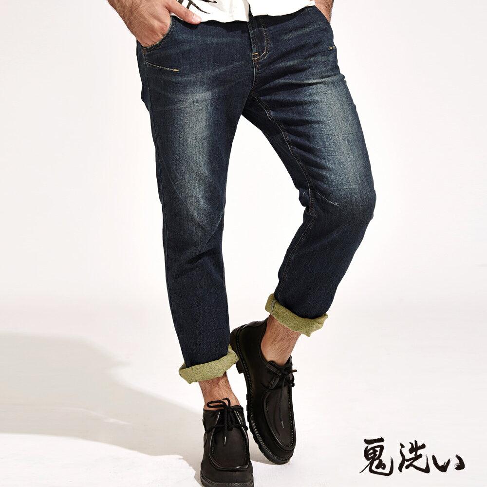 【限時5折】EASY中腰彈性直筒褲 - BLUE WAY  ONIARAI鬼洗 0