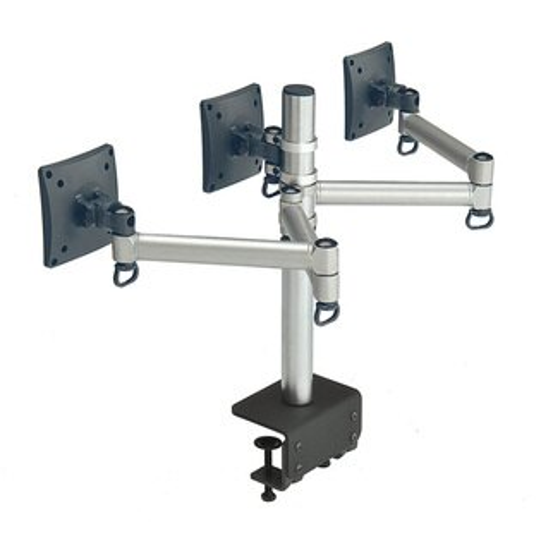 FOGIM夾桌懸臂式液晶螢幕支架(三螢幕)5217SHOPPING
