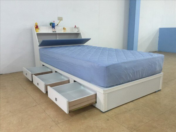【石川家居】GH-280-A藍色收納系列3.5尺床頭+床底粉藍可選(不含床墊跟其他商品)台中以北搭配車趟免運費