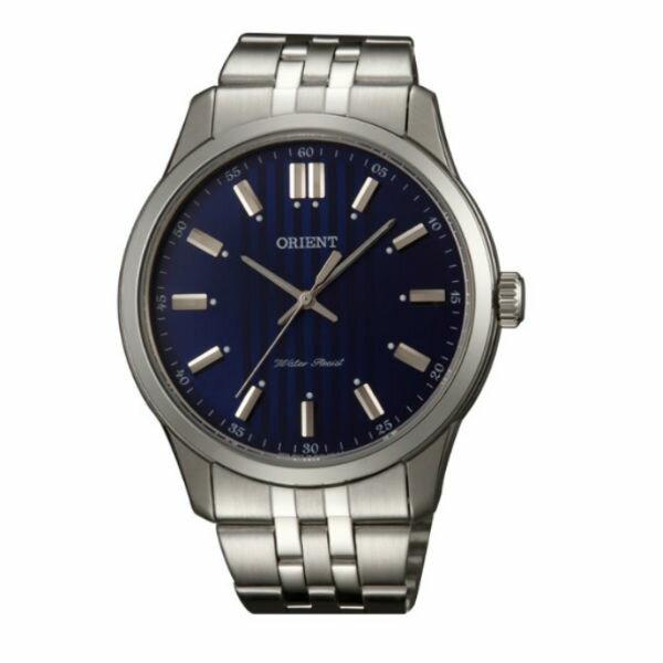 Orient 東方錶(FQC0U003D)紳士簡約腕錶/藍面43mm