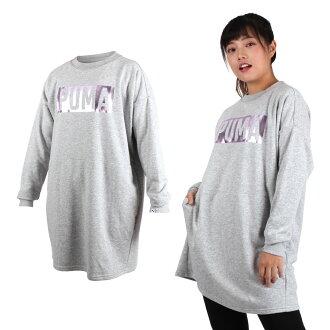 PUMA FUSION女長袖連身裙(長版T恤【03370701】≡排汗專家≡