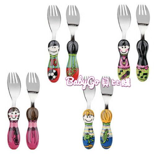 EAT 4 FUN 高品質316不鏽鋼兒童餐具小屁孩叉子系列(隨機出貨)