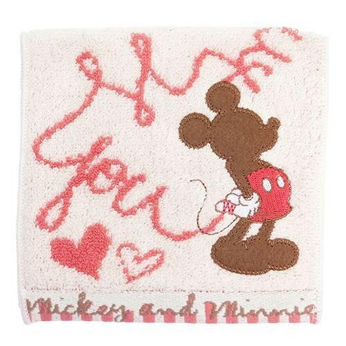 日本迪士尼Disney毛巾小物袋毛巾布折袋《米奇米妮》★收納私密小物暖暖包保冷袋多用途喔★夢想家Zakka'fe