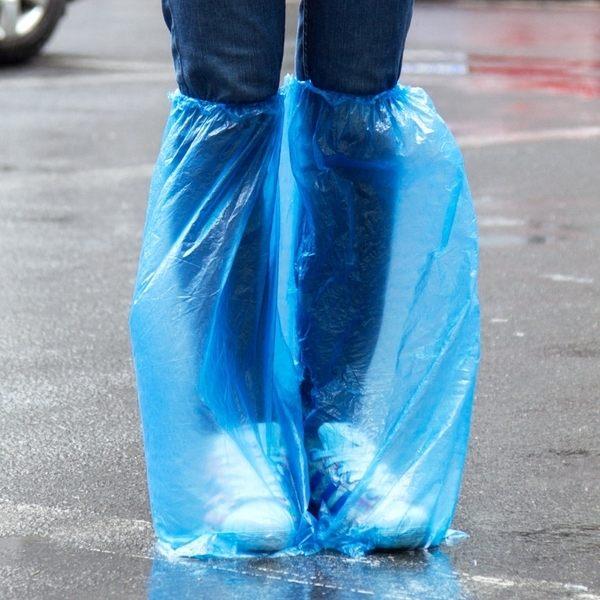 PS Mall 男女士高筒雨天防水一次性鞋套【J1271】