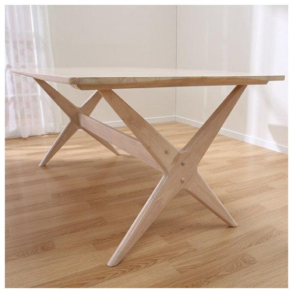 ◎(OUTLET)實木餐桌 RELAX 160 WW 橡膠木 福利品 NITORI宜得利家居 5
