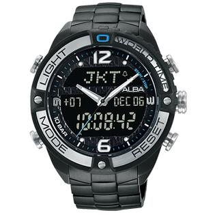 ALBAN021-X002SD(AZ4015X1)活力型男雙顯計時腕錶46.5mm
