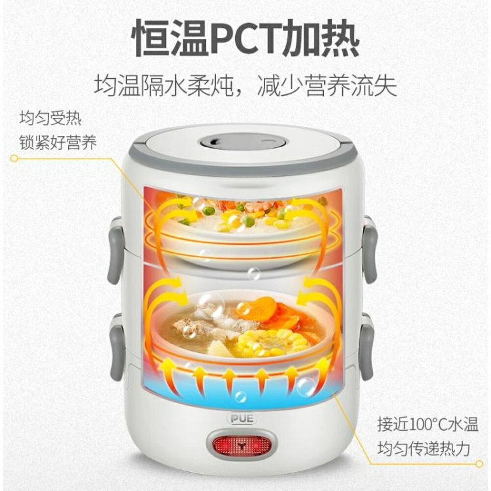 電熱飯盒可插電加熱保溫熱飯神器迷你小蒸煮帶飯鍋飯煲1-2上班族 好再來小屋