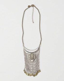 美國百分百【全新真品】Abercrombie & Fitch 項鍊 頸環 飾品 金屬 AF 流蘇 麋鹿 水鑽 H883