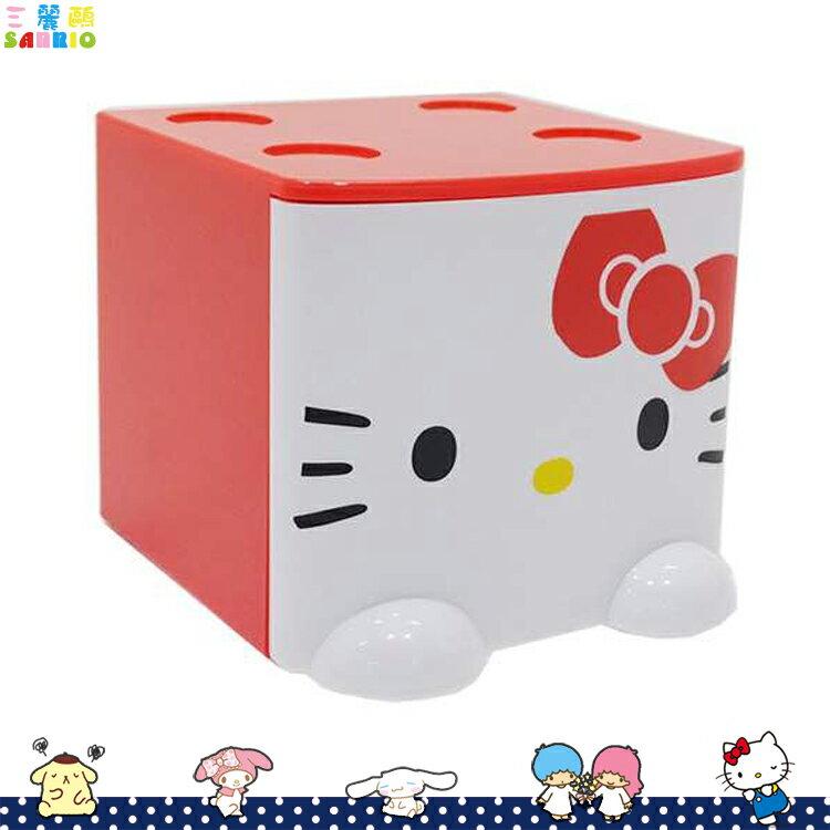 凱蒂貓 Hello Kitty積木式迷你收納盒 積木盒 收納箱 置物盒 飾品盒 紅   424312